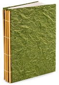 Product Image. Title: Sage Crinkle Handmade Nepal Blank Journal 6x8.25