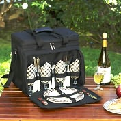 Product Image. Title: Rolling Picnic Cooler for Four