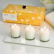 Product Image. Title: Tea Leaf & Wild Honey Votive Trio Set
