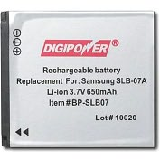 Product Image. Title: DigiPower BP-SLB07 Digital Camera Battery