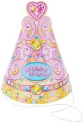Product Image. Title: Party Hats 8/Pkg-Birthday Princess