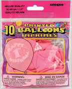 "Product Image. Title: Printed Balloons 12"" 10/Pkg-Happy 1st Birthday-Pink"