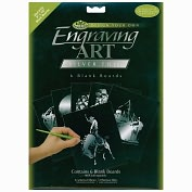 "Product Image. Title: Foil Engraving Art Blank Boards 8""X10"" 6/Pkg-Silver"