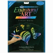"Product Image. Title: Foil Engraving Art Blank Boards 5""X7"" 6/Pkg-Rainbow"