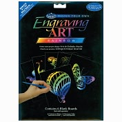 "Product Image. Title: Foil Engraving Art Blank Boards 8""X10"" 6/Pkg-Rainbow"
