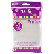 "Product Image. Title: Treat Bags 3-3/4""X6"" 200/Pkg-Clear"