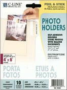 Product Image. Title: Peel &amp; Stick Photo Holders 10/Pkg-Clear 4&quot;X6&quot;