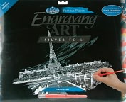 Product Image. Title: Famous Places Silver Foil Engraving Art Kit 8&quot;X10&quot;-Big Ben &amp; Parliament