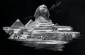 "Product Image. Title: Famous Places Silver Foil Engraving Art Kit 8""X10""-Sphinx"