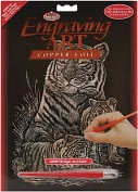 Product Image. Title: Copper Foil Engraving Art Kit 8&quot;X10&quot;-Tiger &amp; Cubs