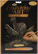 "Product Image. Title: Gold Foil Engraving Art Kit 8""X10""-Deer"
