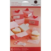 "Product Image. Title: Treat Box 6/Pkg-Heart 3""X3"""