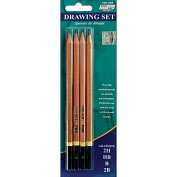 Product Image. Title: Pro Art Drawing Pencils 4/Pkg-2H, HB, B, 2B