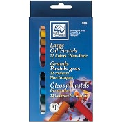 Product Image. Title: Large Oil Pastels 12/Pkg