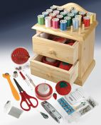 Product Image. Title: Wooden Sewing Box