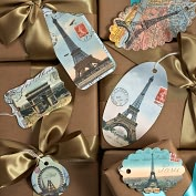 Product Image. Title: Paris Gift Tags