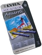 Product Image. Title: Lyra Aquacolor Watersoluble Crayons 12/Pkg