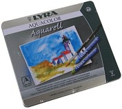 Product Image. Title: Lyra Aquacolor Watersoluble Crayons 24/Pkg