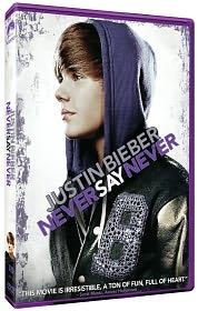 Justin Bieber: Never Say Never starring Justin Bieber: DVD Cover