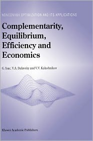 Complementarity, Equilibrium, Efficienc...