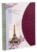 Product Image. Title: La Belle Vie Eiffel Tower Lined Bound Travel Journal 5.5 X 7.5