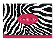 Product Image. Title: Zebra Thank You Notes Set Of 14