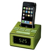Product Image. Title: RCA RC130IGR Desktop Clock Radio - Apple Dock Interface