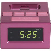 Product Image. Title: RCA RC130IPK Desktop Clock Radio - Apple Dock Interface