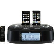Product Image. Title: Hazard Alert: Hi-Fi Dual Alarm Clock with NOAA and S.A.M.E Weather Hazard Alert