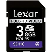 Product Image. Title: Lexar Media 8GB Secure Digital High Capacity (SDHC) Card