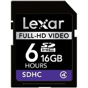 Product Image. Title: Lexar Media 16GB Secure Digital High Capacity (SDHC) Card