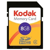 Product Image. Title: Lexar Media 8GB KODAK Secure Digital High Capacity (SDHC) Card