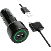 Product Image. Title: PowerJolt Car Charger for iPad, iPhone and iPod 10 watt in Black