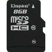 Product Image. Title: Kingston SDC10/8GB 8 GB MicroSD High Capacity (microSDHC) - 1 Card