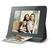 "Product Image. Title: Mustek PF-A6L Digital Photo Scanner With 8"" LCD"