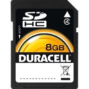 Product Image. Title: Duracell DU-SD-8192-R 8 GB Secure Digital High Capacity (SDHC) - 1 Card