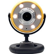 Product Image. Title: Gear Head WC1400YLW Webcam - 1.3 Megapixel - Yellow, Black - USB 2.0