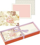Product Image. Title: George Stanley Pink Floral Luxe Correspondence Set of 15
