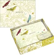 Product Image. Title: George Stanley Birds Luxe Thank You Boxed Note Card Set of 15