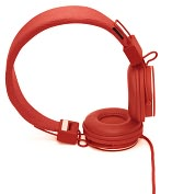 Product Image. Title: Urbanears Plattan On-Ear Stereo Headphones - Tomato