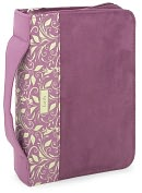 Product Image. Title: Purple Suede FAITH Book and Bible Cover