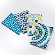 Product Image. Title: Jonathan Adler Meadow Mosaic Blue Teal Journals - Set of 4