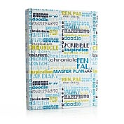 Product Image. Title: Jonathan Adler Words Blue/Green Sketchbook (8.2x11.2)