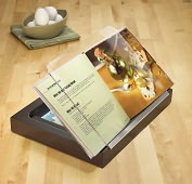 Product Image. Title: Wood and Acrylic Cookbook Holder