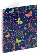 Product Image. Title: Magic Wings Lined Theme Book (8x10.5)