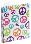 Product Image. Title: Peace Retro Lined Theme Book (8x10.5)