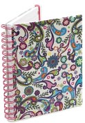 Product Image. Title: Boho Floral Pearl Lined Journal (6x8)