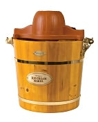 Product Image. Title: Nostalgia Electrics ICMW-400 4-Quart Wooden Bucket Electric Ice Cream Maker