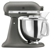 Product Image. Title: KitchenAid� KSM150PSGR Artisan� Series 5-Quart Tilt-Head Stand Mixer, Imperial Grey
