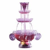 Product Image. Title: Nostalgia Electrics� LPF-210 Vintage Collection� Lighted Party Fountain Beverage Set